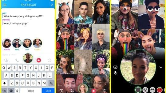Snapchat Rolling Out Group Video Chat & Mentions For Stories Feature