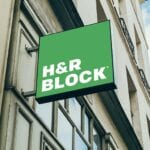 H&R Block sign outside a location