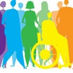 rainbow silhouettes illustrating inclusive bodies